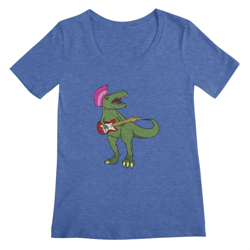 Tyrant Lizard Women's Scoopneck by Bigger Than Cheeses
