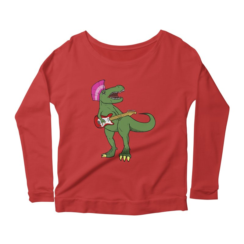 Tyrant Lizard Women's Scoop Neck Longsleeve T-Shirt by Bigger Than Cheeses