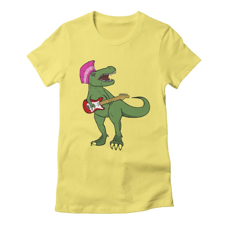 Tyrant Lizard Women's Fitted T-Shirt by Bigger Than Cheeses