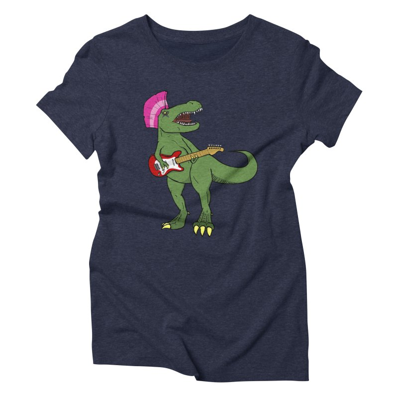 Tyrant Lizard Women's Triblend T-Shirt by Bigger Than Cheeses