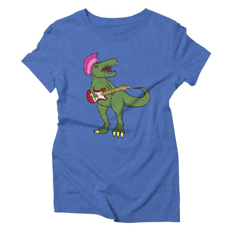 Tyrant Lizard Women's Triblend T-Shirt by Bigger Than Cheeses