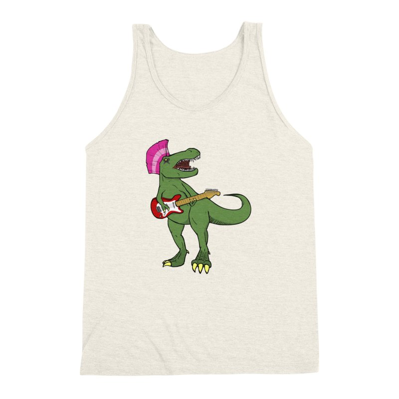 Tyrant Lizard Men's Triblend Tank by Bigger Than Cheeses