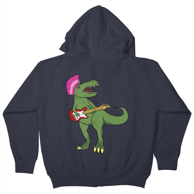 Tyrant Lizard Kids Zip-Up Hoody by Bigger Than Cheeses