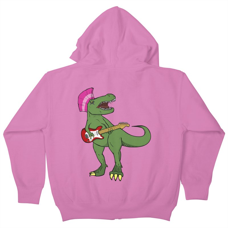 Tyrant Lizard Kids Zip-Up Hoody by Bigger Than Cheeses