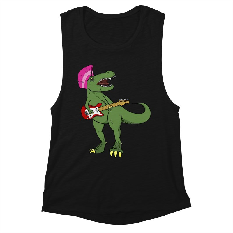 Tyrant Lizard Women's Muscle Tank by Bigger Than Cheeses