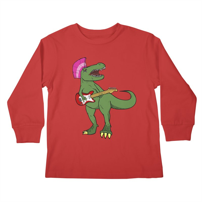 Tyrant Lizard Kids Longsleeve T-Shirt by Bigger Than Cheeses