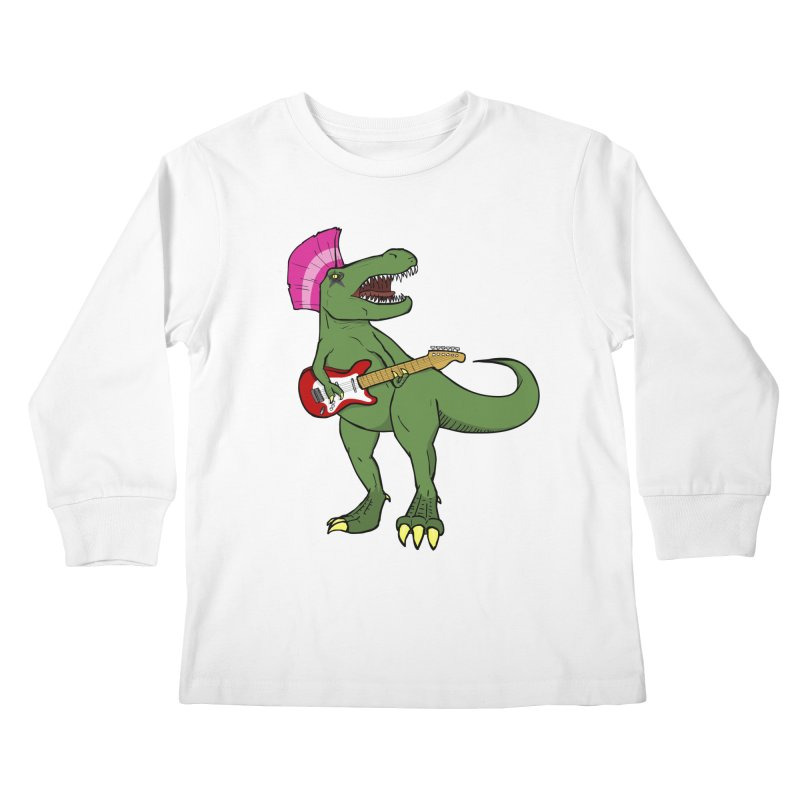 Tyrant Lizard Kids Longsleeve T-Shirt by Bigger Than Cheeses