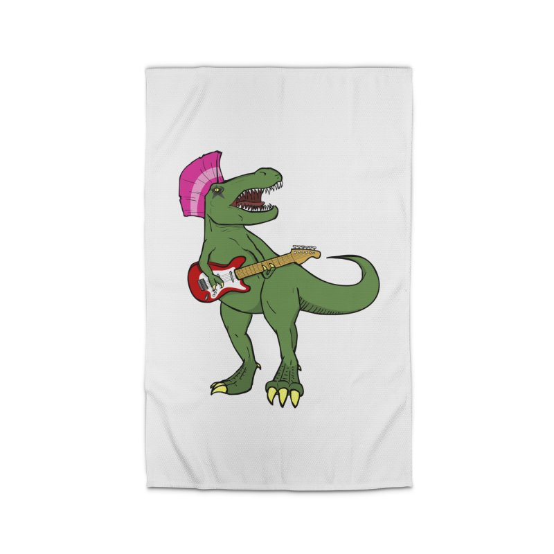 Tyrant Lizard Home Rug by Bigger Than Cheeses