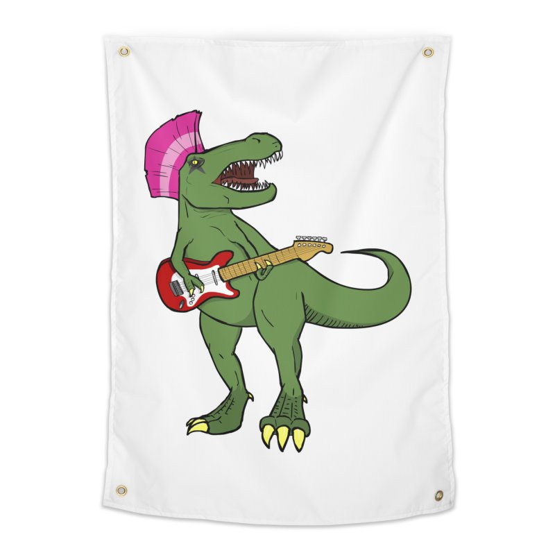 Tyrant Lizard Home Tapestry by Bigger Than Cheeses