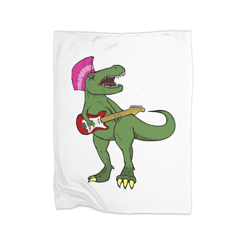 Tyrant Lizard Home Fleece Blanket Blanket by Bigger Than Cheeses