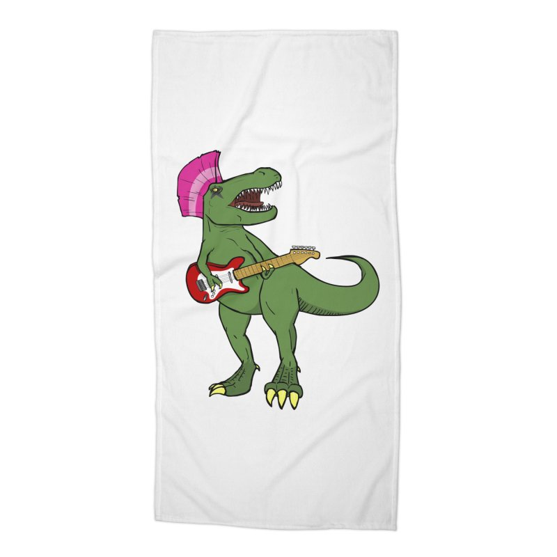 Tyrant Lizard Accessories Beach Towel by Bigger Than Cheeses