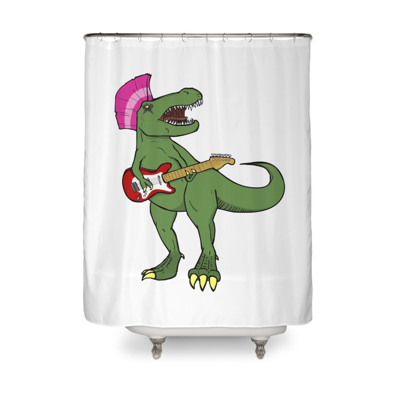 Tyrant Lizard Home Shower Curtain by Bigger Than Cheeses