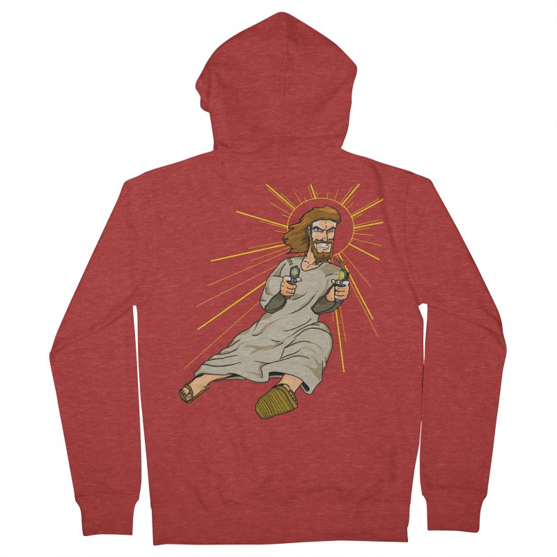 Dead or alive you're coming with me Men's French Terry Zip-Up Hoody by Bigger Than Cheeses