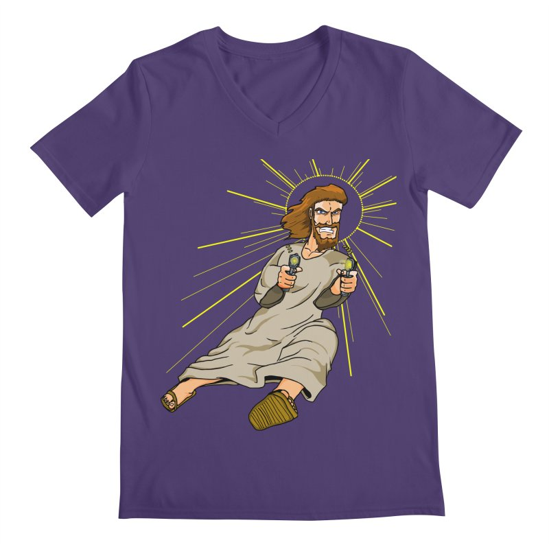Dead or alive you're coming with me Men's V-Neck by Bigger Than Cheeses