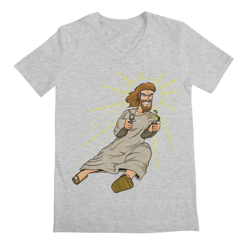 Dead or alive you're coming with me Men's Regular V-Neck by Bigger Than Cheeses