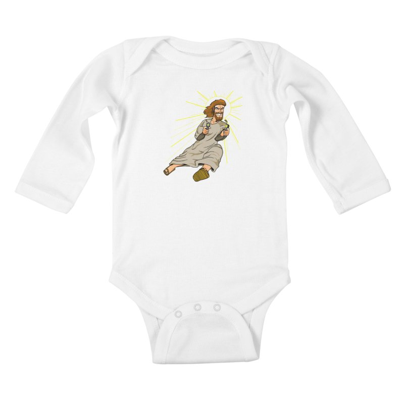 Dead or alive you're coming with me Kids Baby Longsleeve Bodysuit by Bigger Than Cheeses