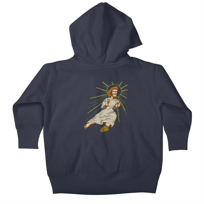 Dead or alive you're coming with me Kids Baby Zip-Up Hoody by Bigger Than Cheeses