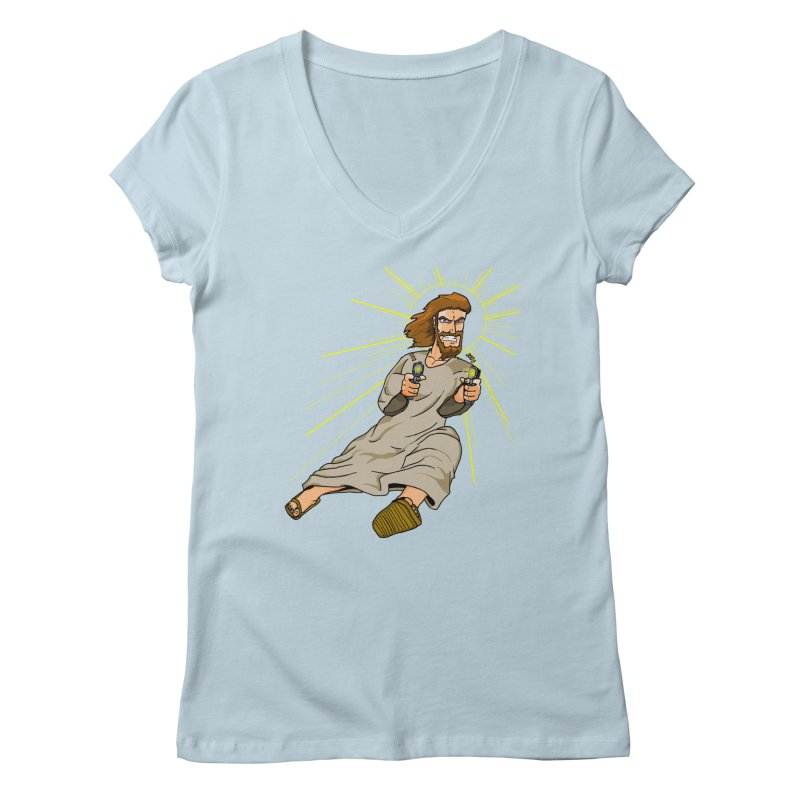 Dead or alive you're coming with me Women's V-Neck by Bigger Than Cheeses