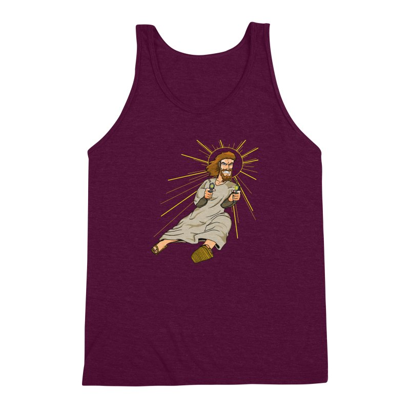 Dead or alive you're coming with me Men's Triblend Tank by Bigger Than Cheeses