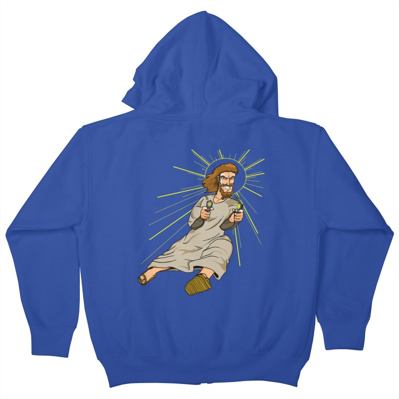 Dead or alive you're coming with me Kids Zip-Up Hoody by Bigger Than Cheeses