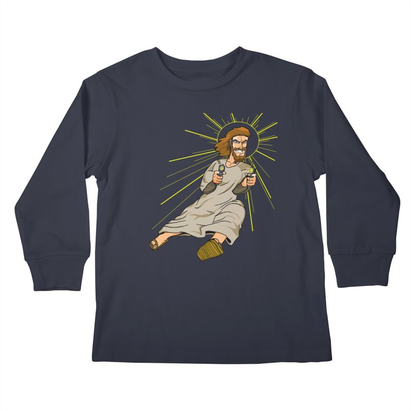 Dead or alive you're coming with me Kids Longsleeve T-Shirt by Bigger Than Cheeses