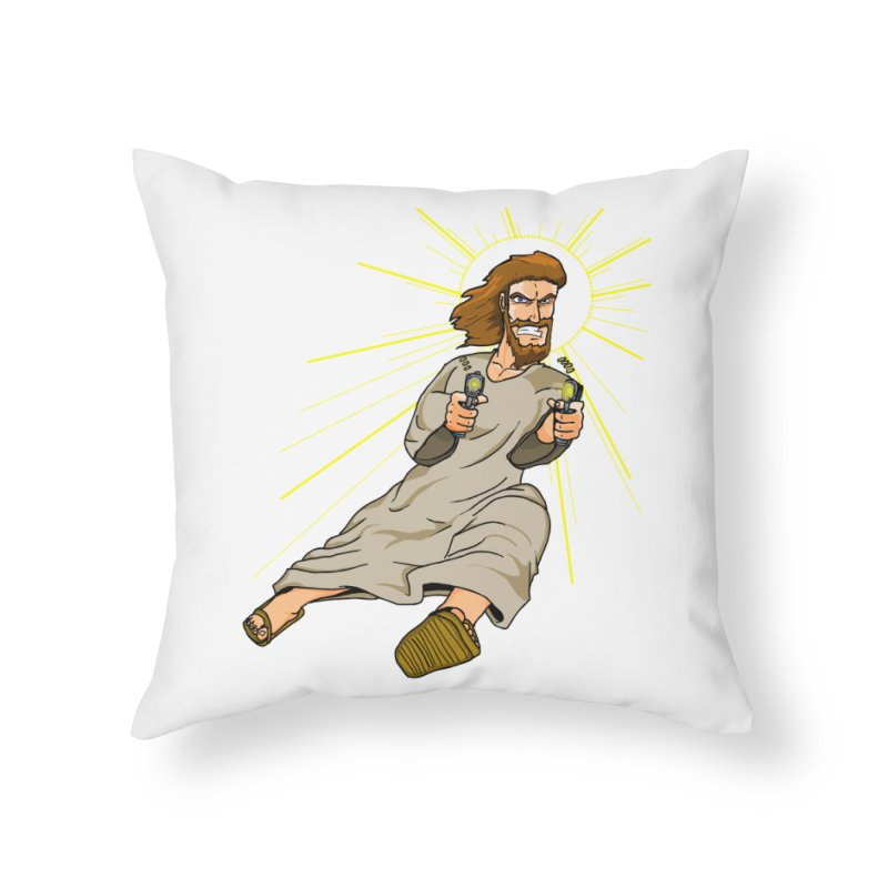 Dead or alive you're coming with me Home Throw Pillow by Bigger Than Cheeses