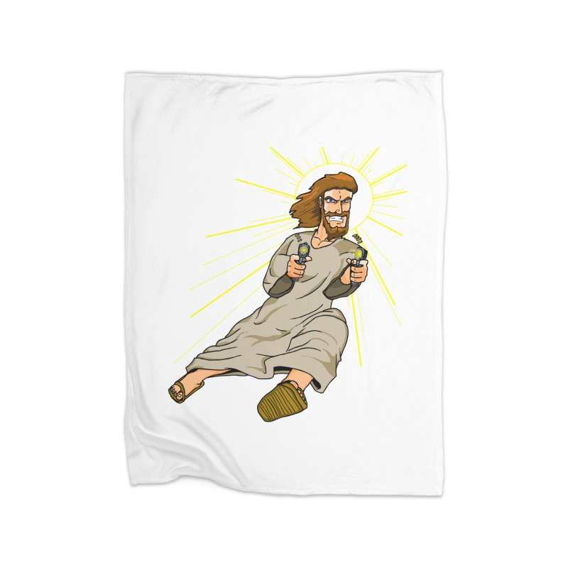 Dead or alive you're coming with me Home Fleece Blanket by Bigger Than Cheeses