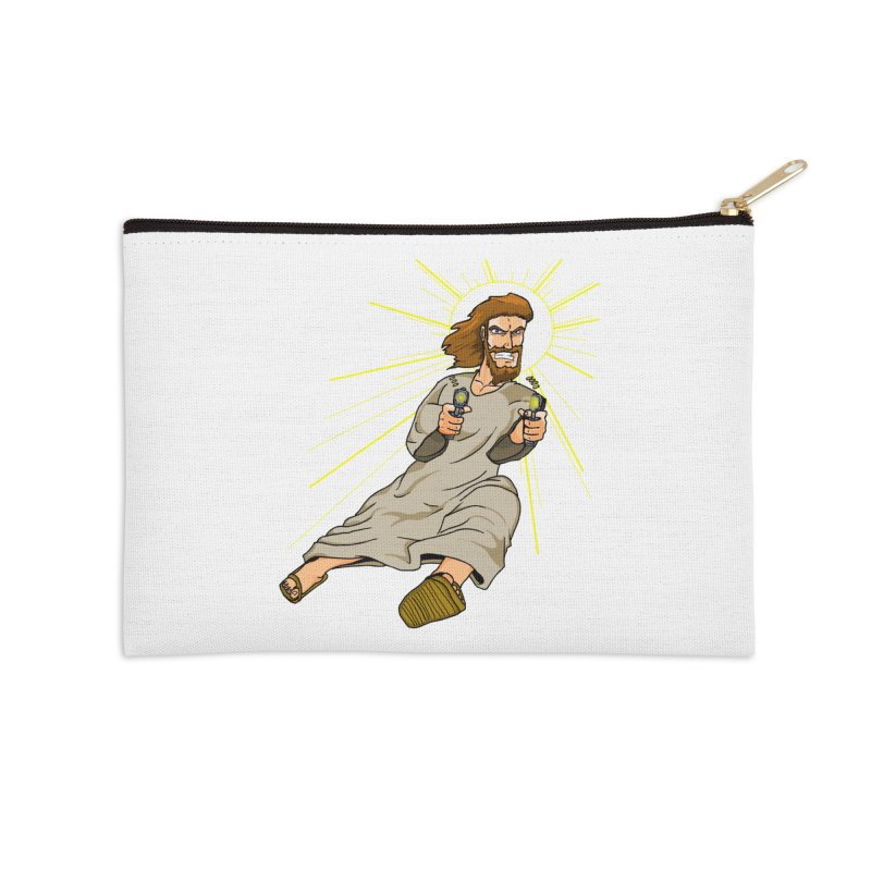 Dead or alive you're coming with me Accessories Zip Pouch by Bigger Than Cheeses