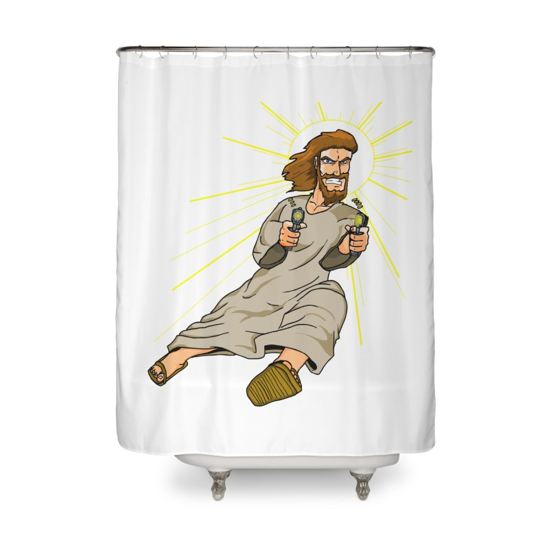 Dead or alive you're coming with me Home Shower Curtain by Bigger Than Cheeses