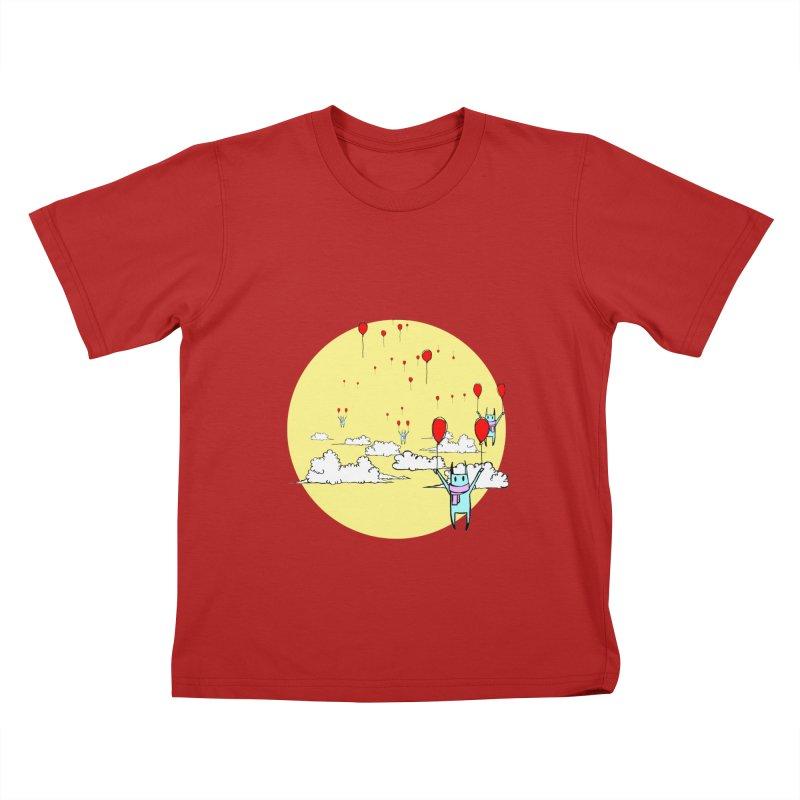 b4lloonc4ts Kids T-shirt by btsai's Artist Shop