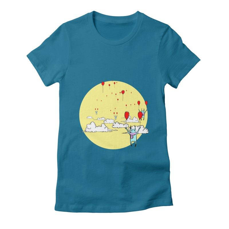 b4lloonc4ts Women's Fitted T-Shirt by btsai's Artist Shop