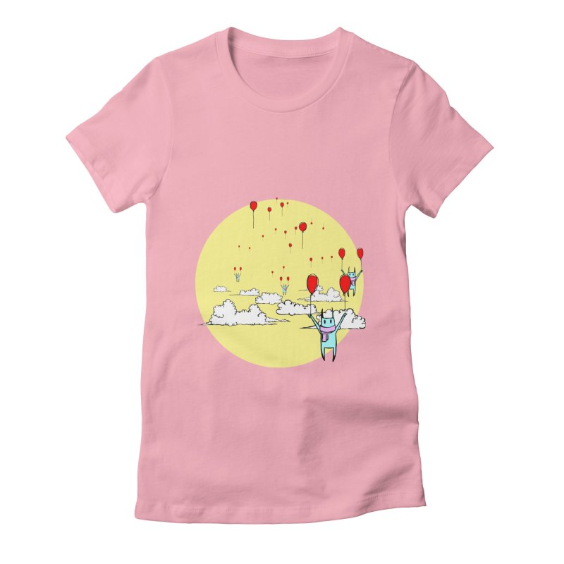 b4lloonc4ts Women's Fitted T-Shirt by btsai's Artist Shop
