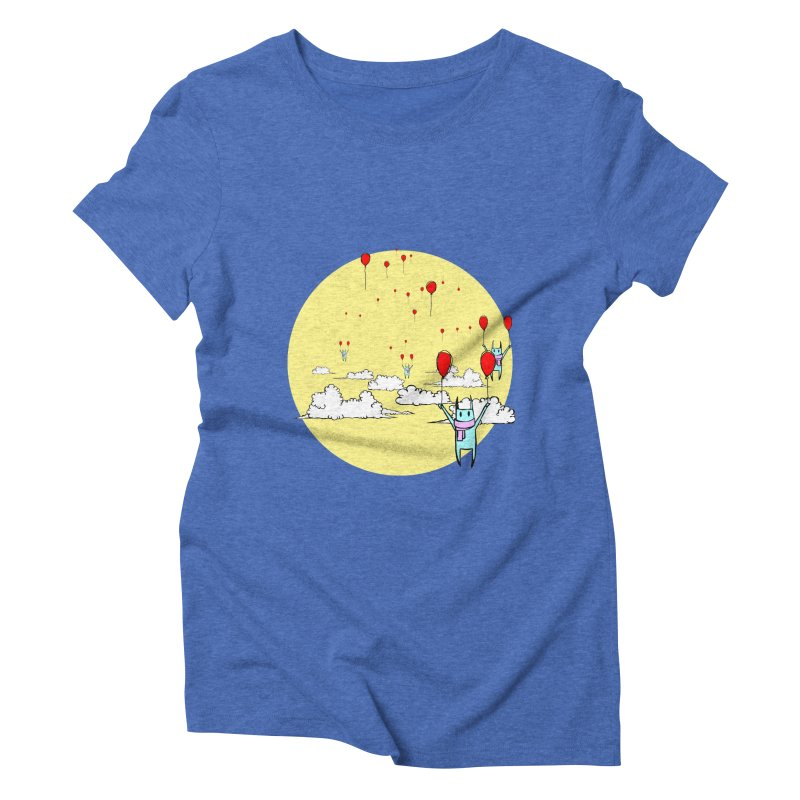 b4lloonc4ts Women's Triblend T-Shirt by btsai's Artist Shop