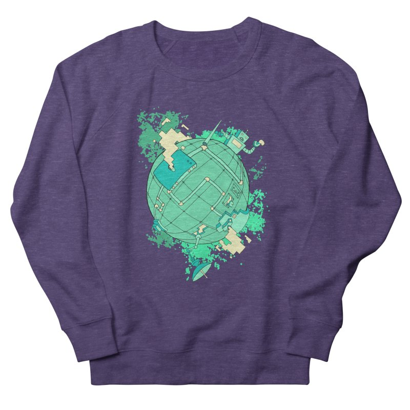 Modern World Men's Sweatshirt by btsai's Artist Shop