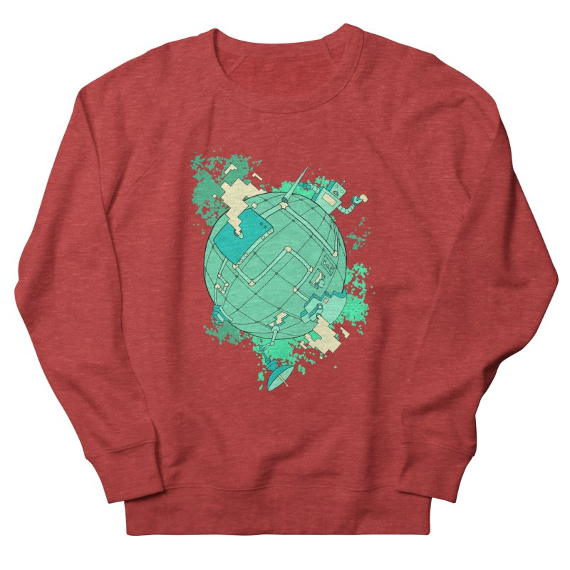 Modern World Men's Sweatshirt by btsai's Artist Shop
