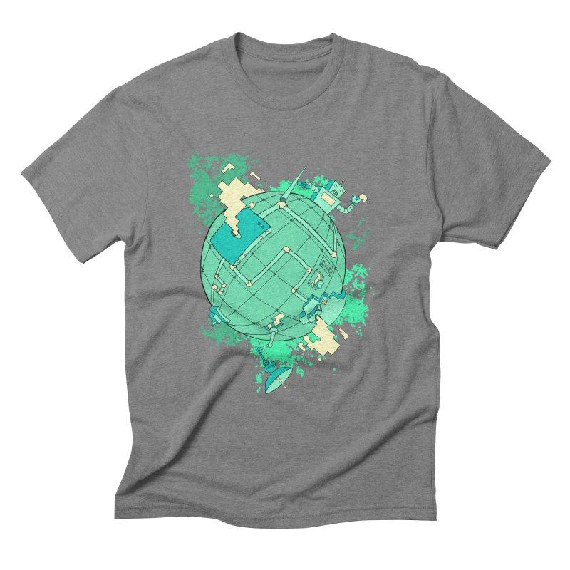 Modern World Men's Triblend T-Shirt by btsai's Artist Shop