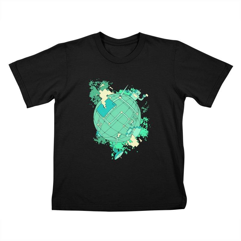 Modern World Kids T-Shirt by btsai's Artist Shop