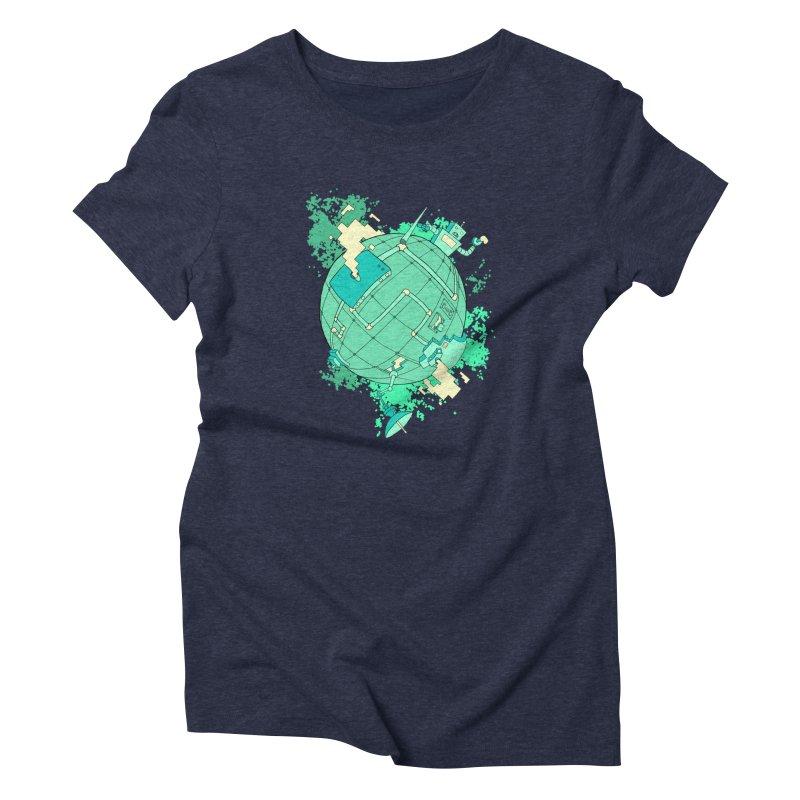 Modern World Women's Triblend T-Shirt by btsai's Artist Shop