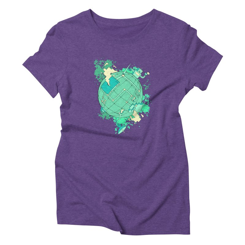 Modern World Women's Triblend T-Shirt by btsai's Artist Shop