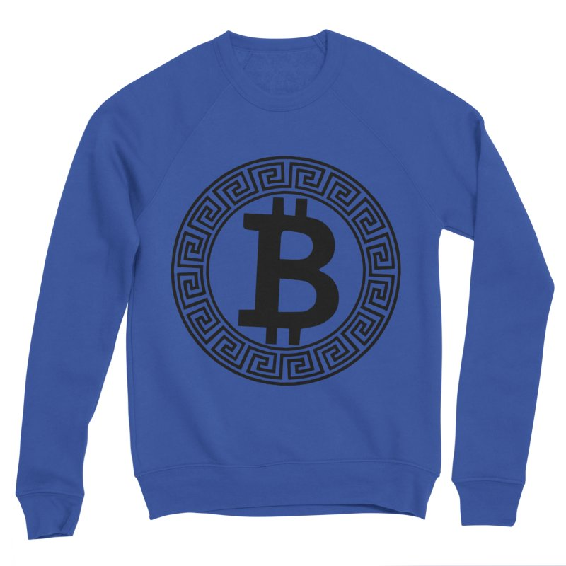 Bitcoin Men's Sweatshirt by Beneath The Surface Tattoos