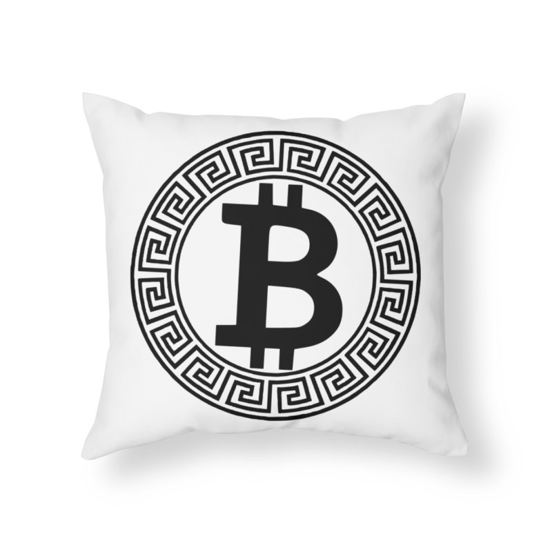 Bitcoin Home Throw Pillow by Beneath The Surface Tattoos