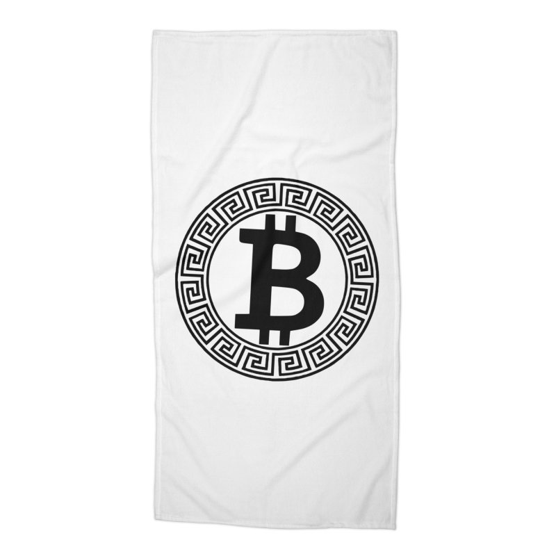 Bitcoin Accessories Beach Towel by Beneath The Surface Tattoos