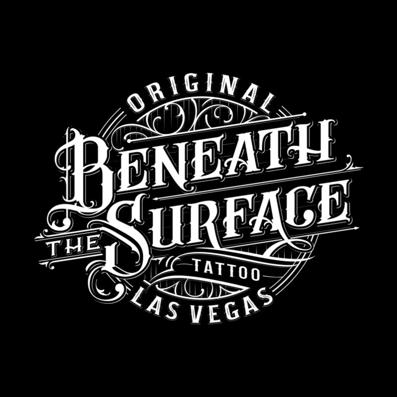 OG Beneath The Surface White Print Accessories Skateboard by Beneath The Surface Tattoos