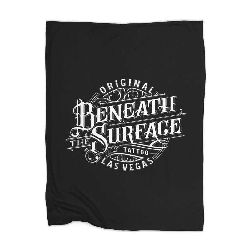 OG Beneath The Surface White Print Home Blanket by Beneath The Surface Tattoos