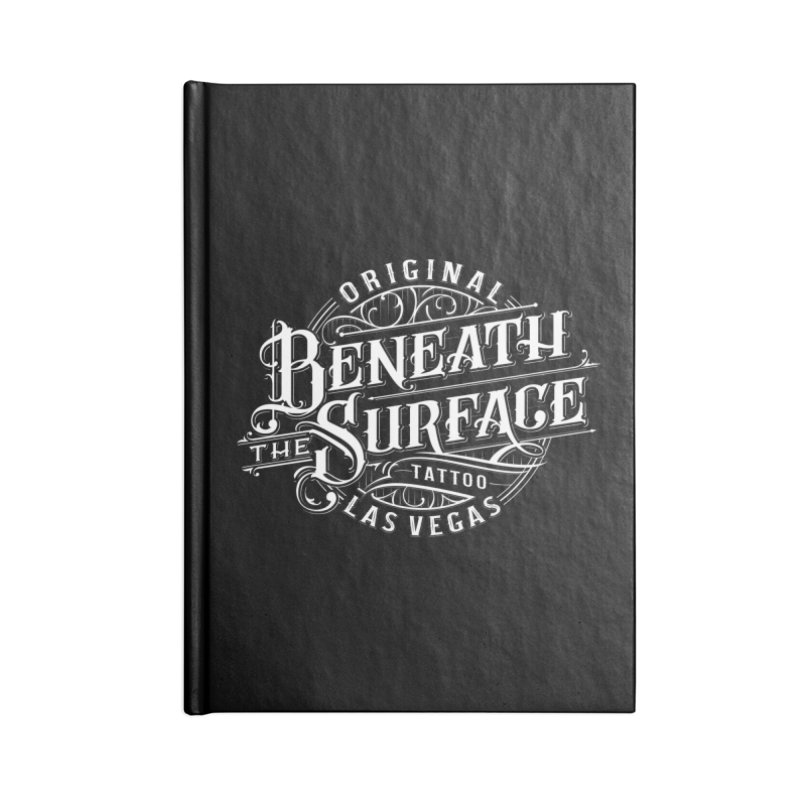 OG Beneath The Surface White Print Accessories Notebook by Beneath The Surface Tattoos