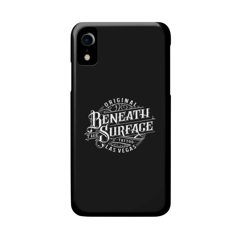 OG Beneath The Surface White Print Accessories Phone Case by Beneath The Surface Tattoos