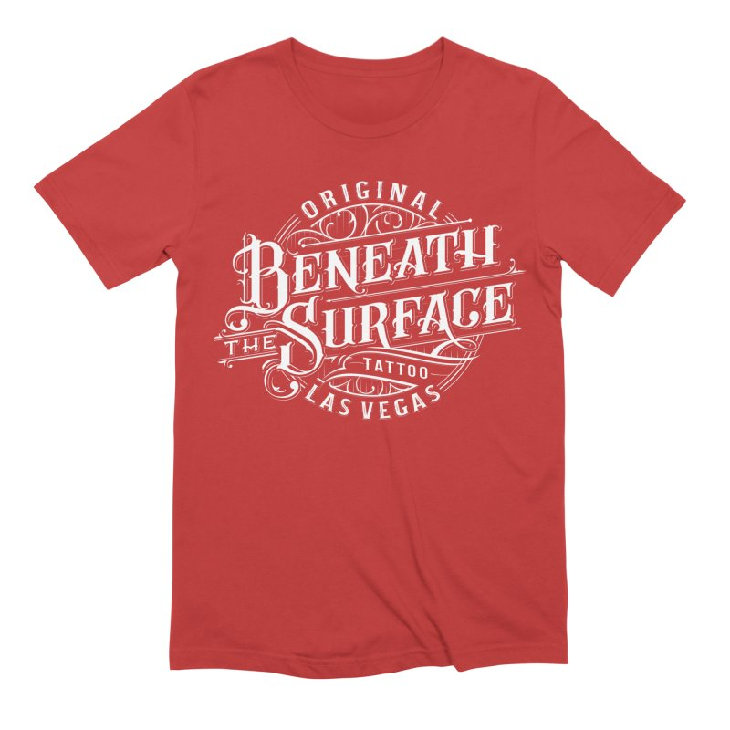 OG Beneath The Surface White Print Men's T-Shirt by Beneath The Surface Tattoos