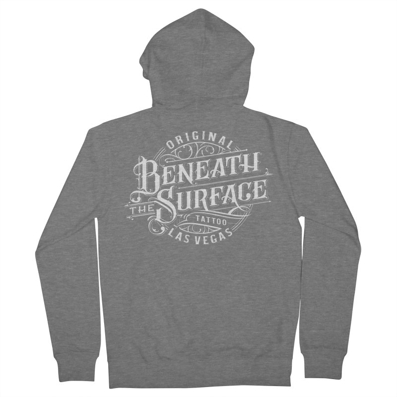 OG Beneath The Surface White Print Women's Zip-Up Hoody by Beneath The Surface Tattoos