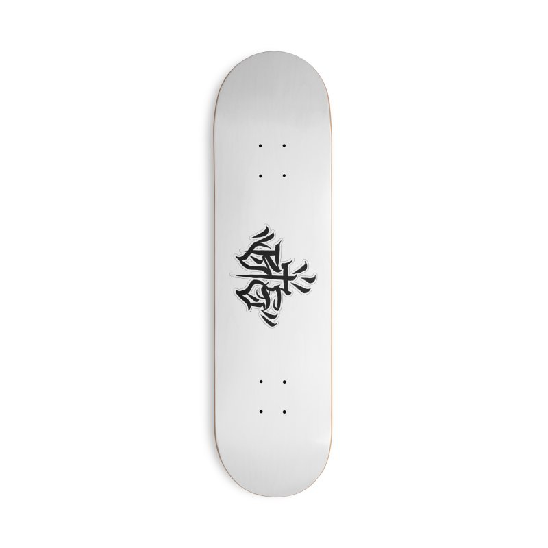 BTS Black Print Accessories Skateboard by Beneath The Surface Tattoos