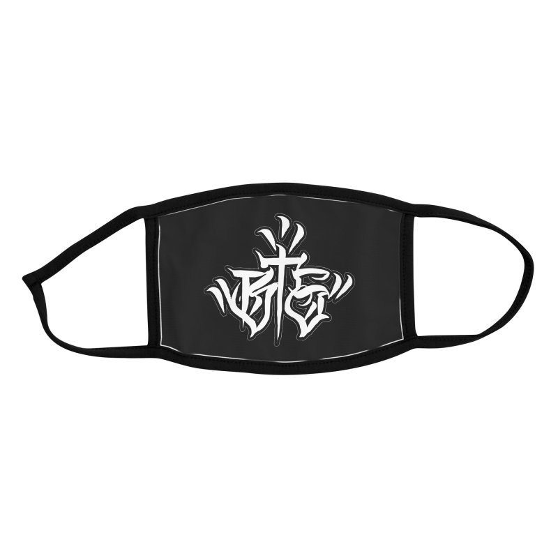 BTS White Print Accessories Face Mask by Beneath The Surface Tattoos